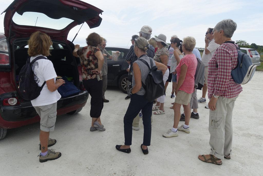 RV au parking avant la visite du marais salant.
