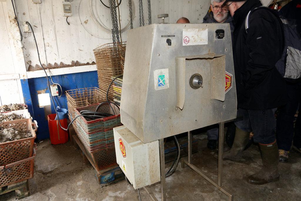 La machine à récolter les petites huitres
