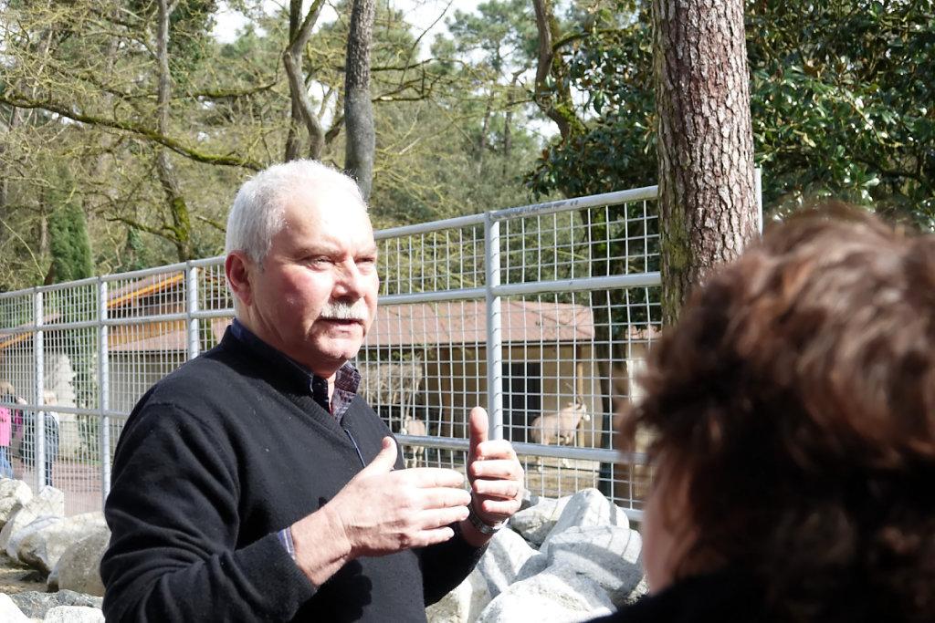Patrick Caillé, directeur du Zoo