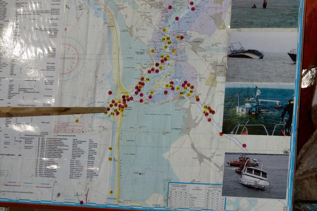 Carte des naufrages dans le Pertuis de Maumusson