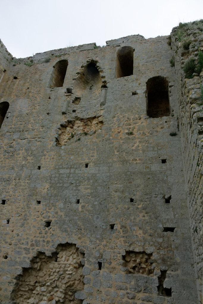 Façade intérieure de la tour