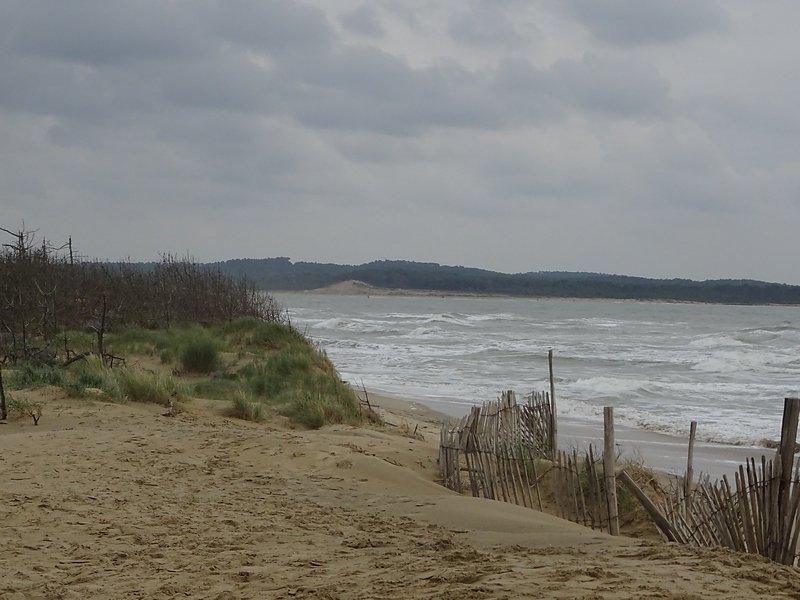 face à l'embellie érosion forte du littoral